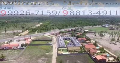 Nesta imagem mostramos a a localização do condomínio Res. Vilas de Santa Rita as margens da AL 101 Sul em Marechal Deodoro.