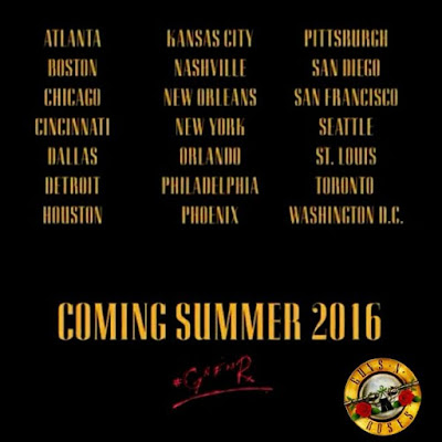 Guns n'Roses - tour 2016