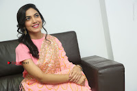 Actress Ritu Varma Pos in Beautiful Pink Anarkali Dress at at Keshava Movie Interview .COM 0337.JPG