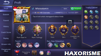 Daily Akun Mobile Legends Uncheck Gratis