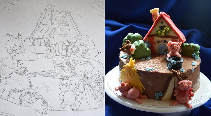 három kismalac boldog szülinapot Szilke: Három kismalac torta   The three little pigs cake három kismalac boldog szülinapot