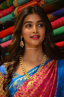 Puja Hegde looks stunning in Red saree at launch of Anutex shopping mall ~ Celebrities Galleries 047.JPG
