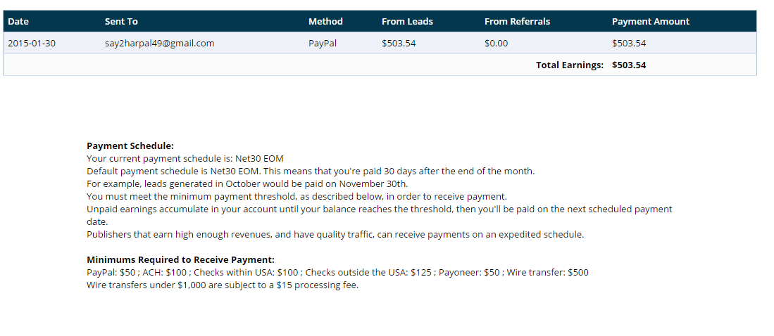 Adscend Media Payment Proof