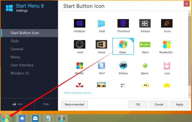 تحميل برنامج IObit Start Menu  لتغير ايقونة قائمة الويندوز