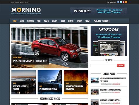WpZoom Morning v1 0 5 Responsive WordPress Theme ~ Best Free