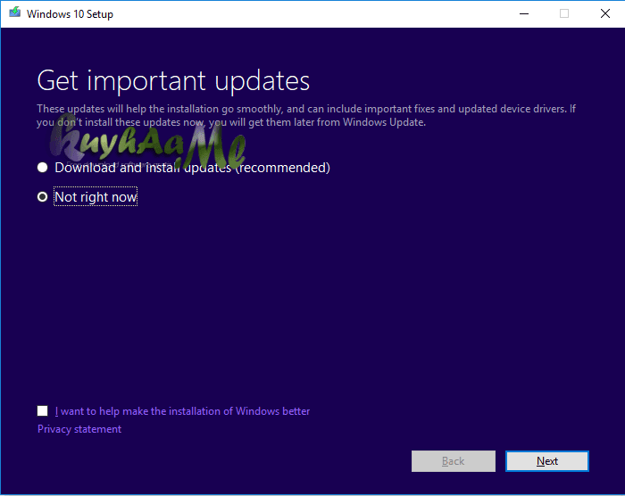 Cara Update windows 10 RS4