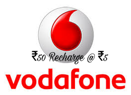 Vodafone Recharge Offer / Discount on Recharge   Vodafone offering ₹50 Recharge at just ₹5  for its all customers. And this the super Loot for all the user of vodafone. If you are also a vodafone customer then further proceed and gran this offer before goes expired. This offer is valid only for Vodafone Users