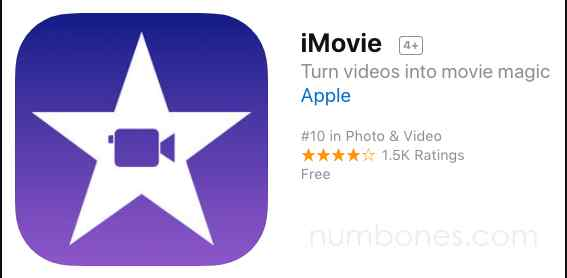 2. iMovie | The 5 Best Green Screen Apps of All Time