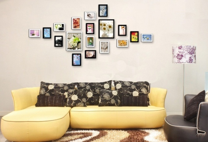 45 Gambar Hiasan Dinding Ruang Tamu