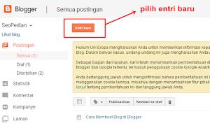 Cara Membuat Postingan Artikel di Blogger