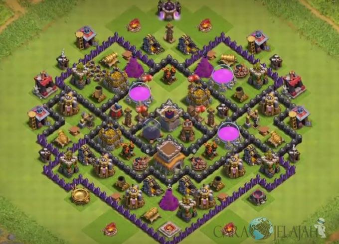 Base Farming TH 8 Clash Of Clans Terbaru 2017 tipe 28