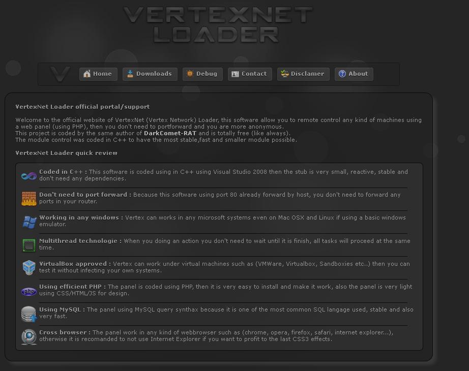 VertexNet Loader v1 2 1 | Hack3r-IQ