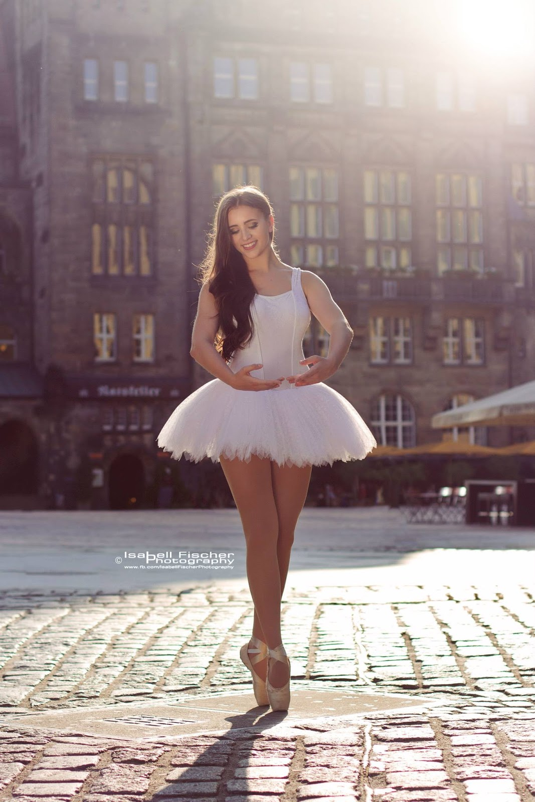 Ballerina on pointe with tutu