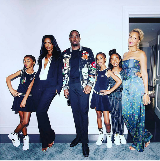 Diddy-and-his-babymamas-Kim-Porter-and-Sarah-Chapman-with-their-daughters