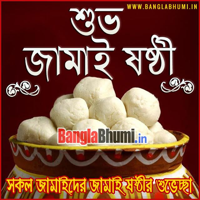 Bengali Jamai Sasthi HD Wallpaper in Bengali Language - জামাই ষষ্ঠী বাংলা গ্রীটিং ফ্রী ডাউনলোড