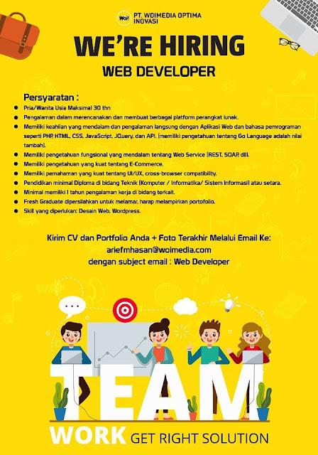 Lowongan Kerja Web Depelover Woimedia