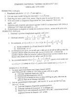Subiecte evaluare nationala 2017 - matematica simulare Dej