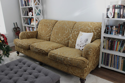 Cream duck cloth couch