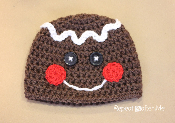 Gingerbread Man Crochet Hat Pattern Repeat Crafter Me