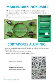 Marcadores Inoxidables, cortadores aluminio.