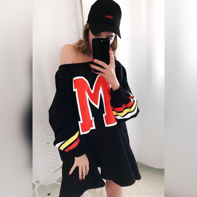 Εντυπωσιακό μαύρο αθλητικό φόρεμα MACEY BLACK