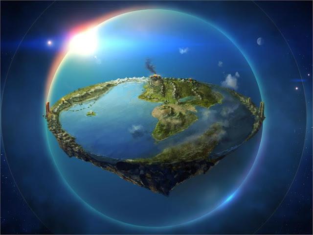 Imagens criadas pela internet surgem ilustrando a Terra Plana