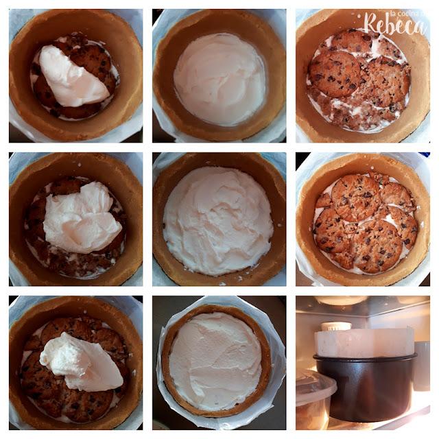 Receta de tarta de cookies y nata: cómo montar el relleno 2