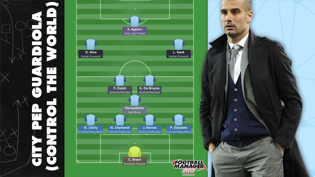 Pep Guardiola's Manchester City Tactic for Football Manager 2017