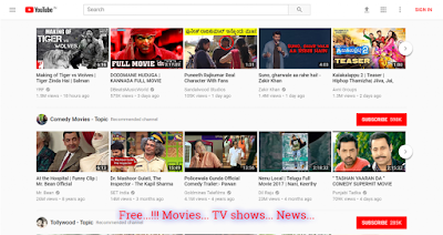 youtube.com new movies