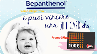 Logo Bepanthenol ti regala 50 Gift Card da 100 euro