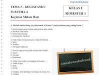 Soal Tematik Kelas 1 Tema 3 Subtema 4 Semester 1