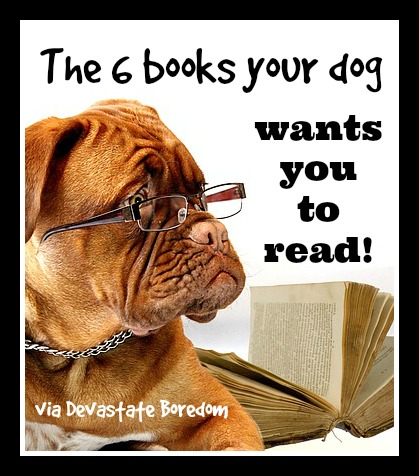 6 Books Your Dog Wishes You Would Read - The Best Resources For Puppy Raising or Dog Training - via Devastate Boredom