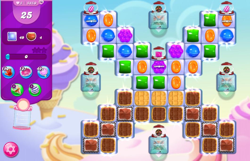 Candy Crush Saga level 5850