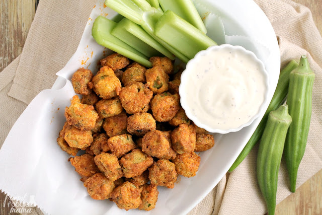 A classic southern dish gets a spicy makeover perfect for game day in these Buffalo Fried Okra.