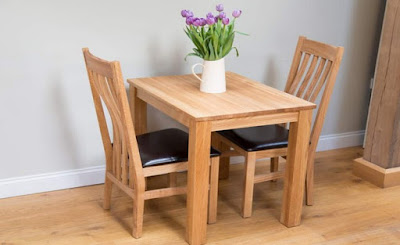 compact dining table and 2 chairs