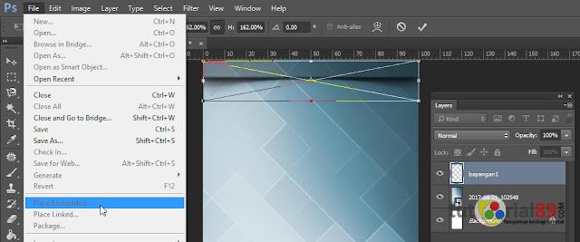 Cara membuat wallpaper shadow pada status bar dengan photoshop