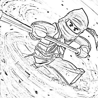 Learn To Coloring Cole Lego Ninjago Colouring Pages