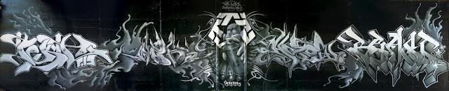 """Festival """"Rencontres Hip Hop"""" Peinture réalisée avec Pest, Shadow, Webs - Niort  France 2006"""