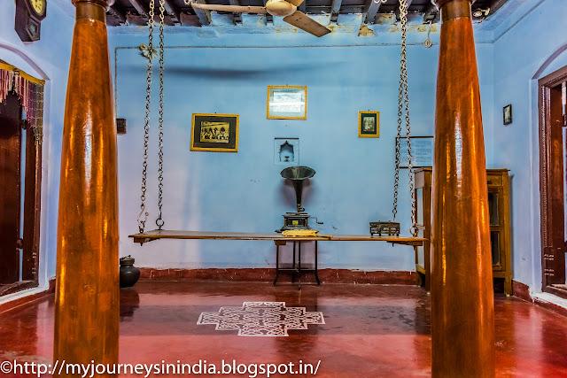 Kanchi Kudil Swing and Teak pillars