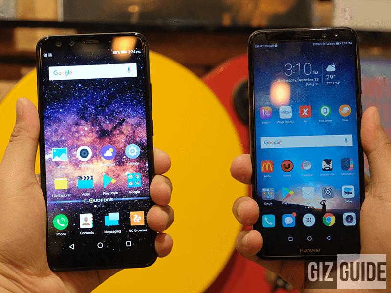 Cloudfone Next Infinity Quattro vs Huawei Nova 2i Specs Comparison