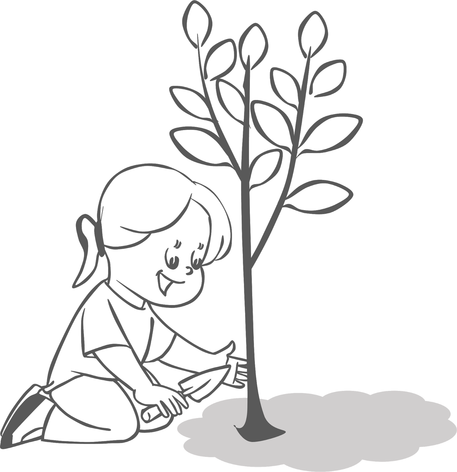 Planting Trees Clipart