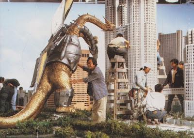 Godzilla vs King Ghidorah detrás de las cámaras