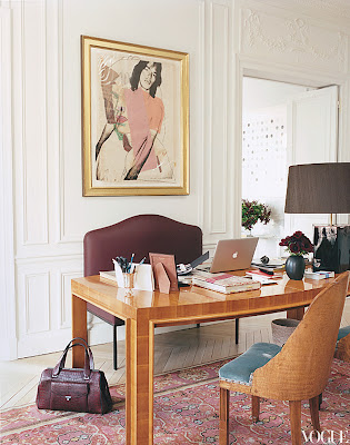L'Wren Scott's Paris Home office
