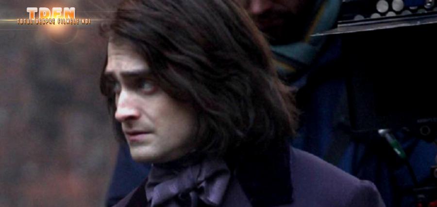 Daniel Radcliffe în timpul filmărilor pentru filmul Victor Frankenstein