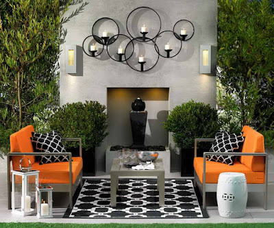 Small space backyard patio design idea