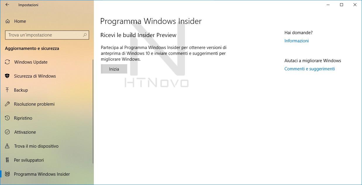 Programma-Insider-Inizia