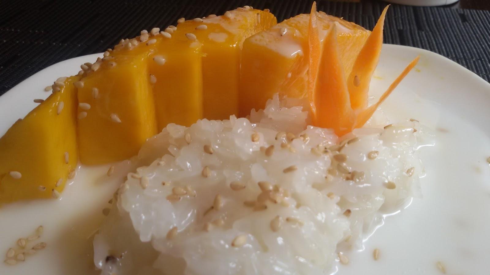 Cocinando en el mundo arroz con coco y mango postre for Cocinar con mango