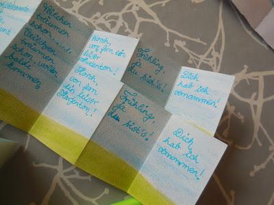 mail-art, Frühlingspost, Mini-Buch, Creadienstag-neuesvomschloss.blogspot.de