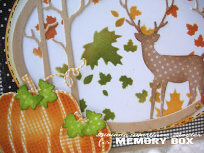 fall deer card detail