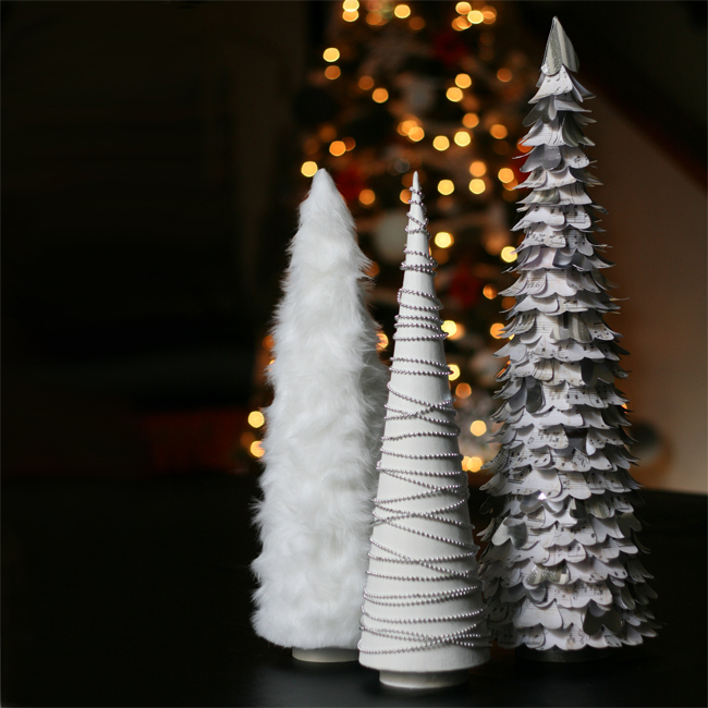 Diy Cone Christmas Trees.Glam White Diy Christmas Trees Blue I Style Creating An